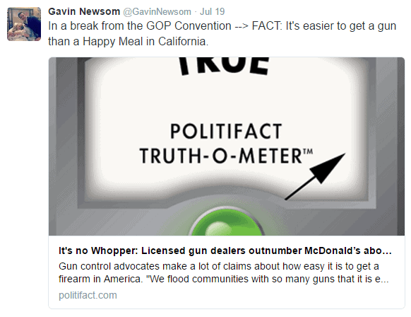 Abetting Gavin Newsom's Lies
